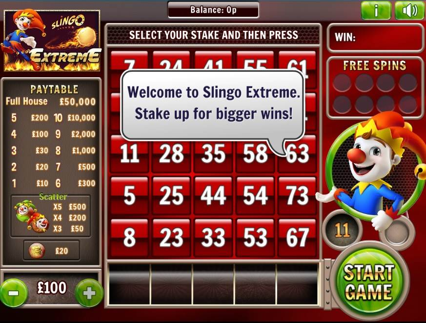 Slingo Extreme Free Slots