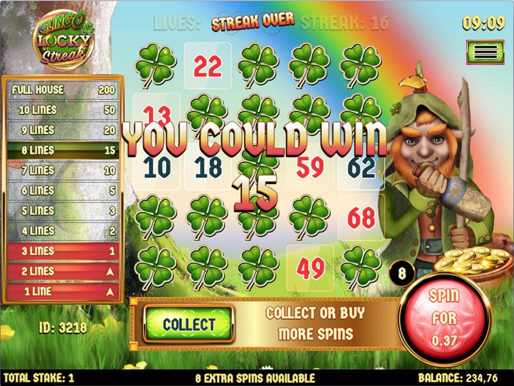 Slingo Lucky Streak Free Slots