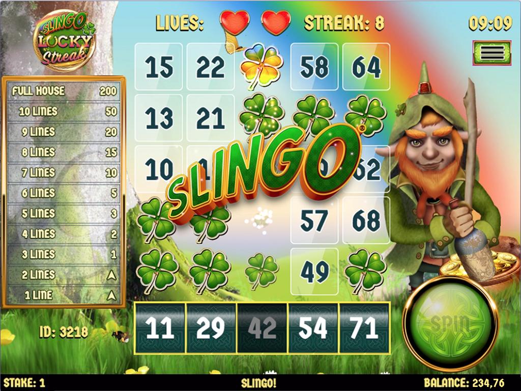 Slingo Lucky Streak Slot UK