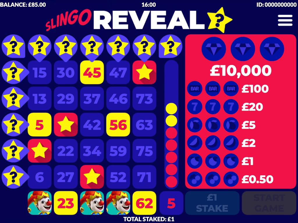 Slingo Reveal Free Slots