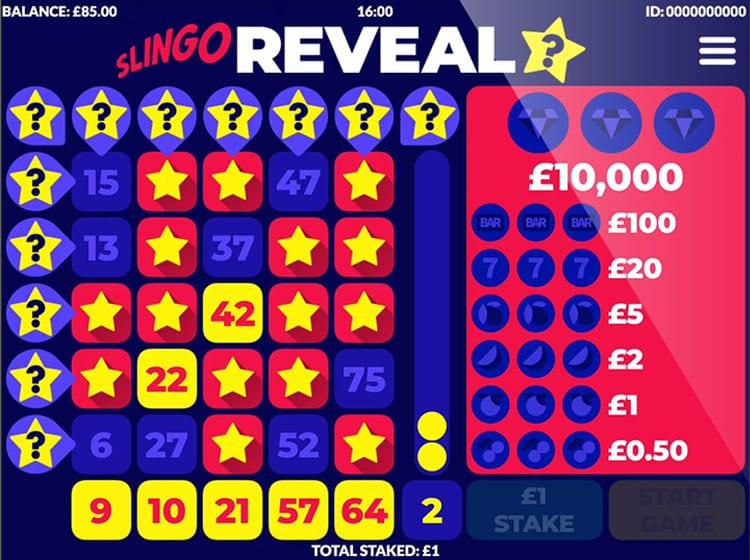 Slingo Reveal Slot Game