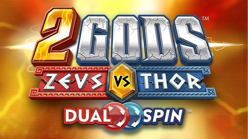 2 Gods Zeus vs Thor Slot Logo Wizard Slots