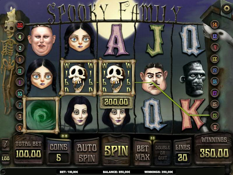 Spooky Family slots gameplay