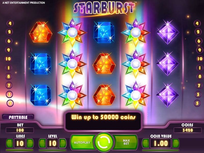 Starburst online slots game gameplay