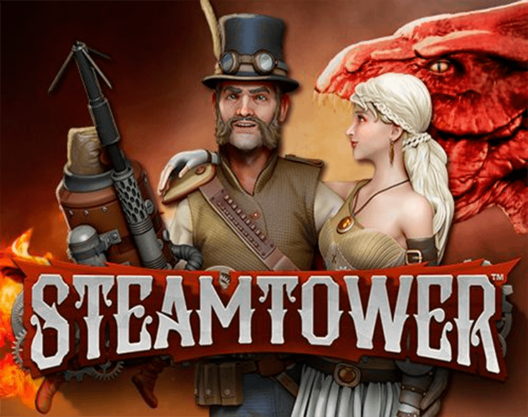 Steamtower online slots game logo