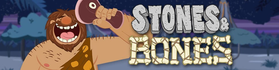 stones and bones slots game logo