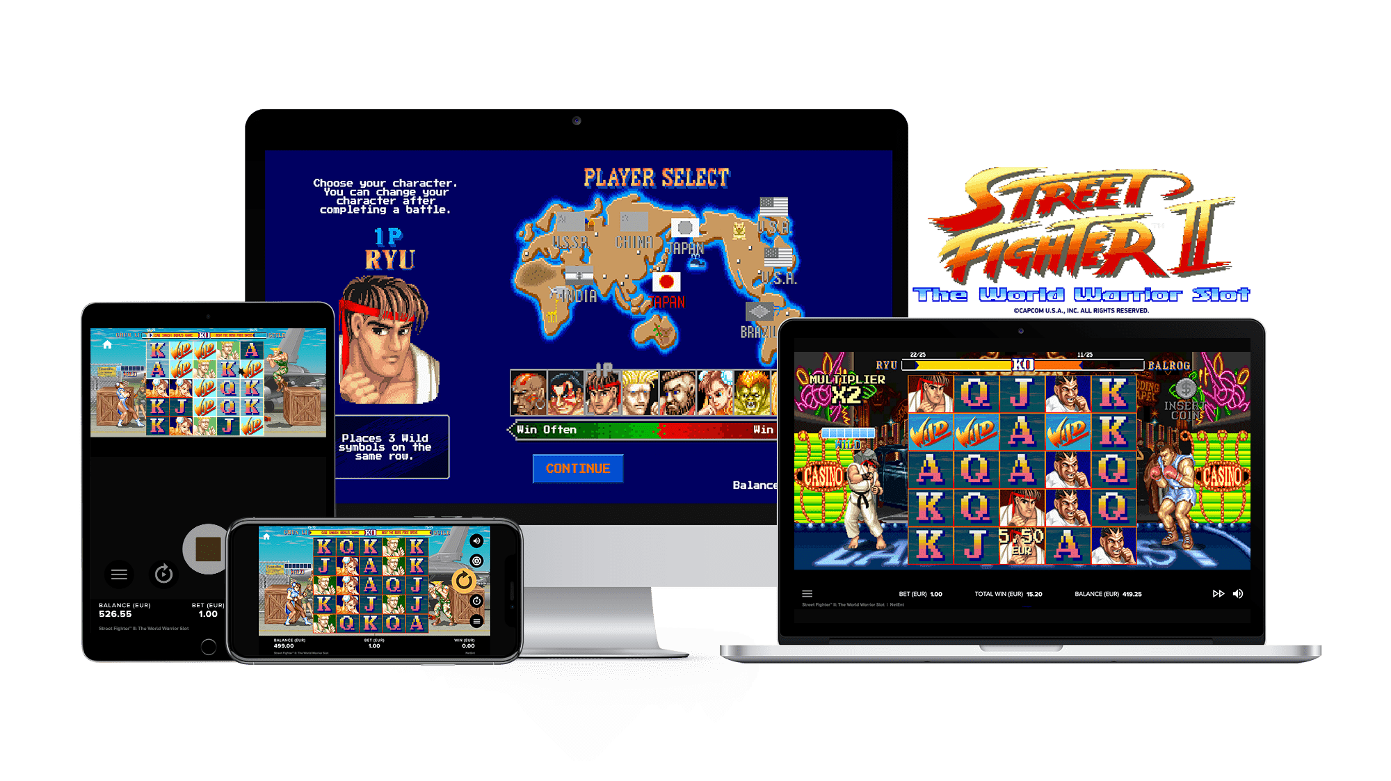 Street Fighter 2: The World Warrior Slot Game