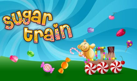 Sugar Train Jackpot Slots game logo