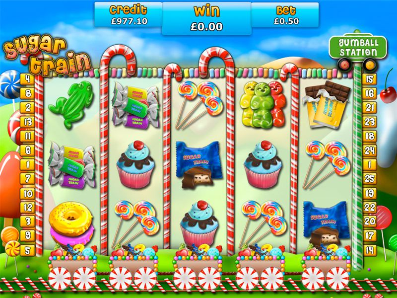 Sugar Train slots gameplay