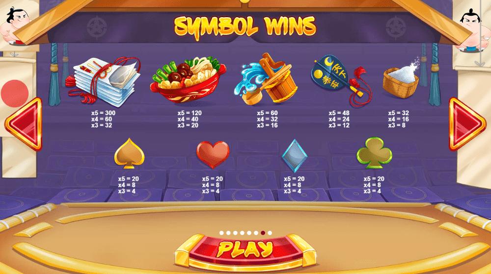 Sumo Spins Symbols
