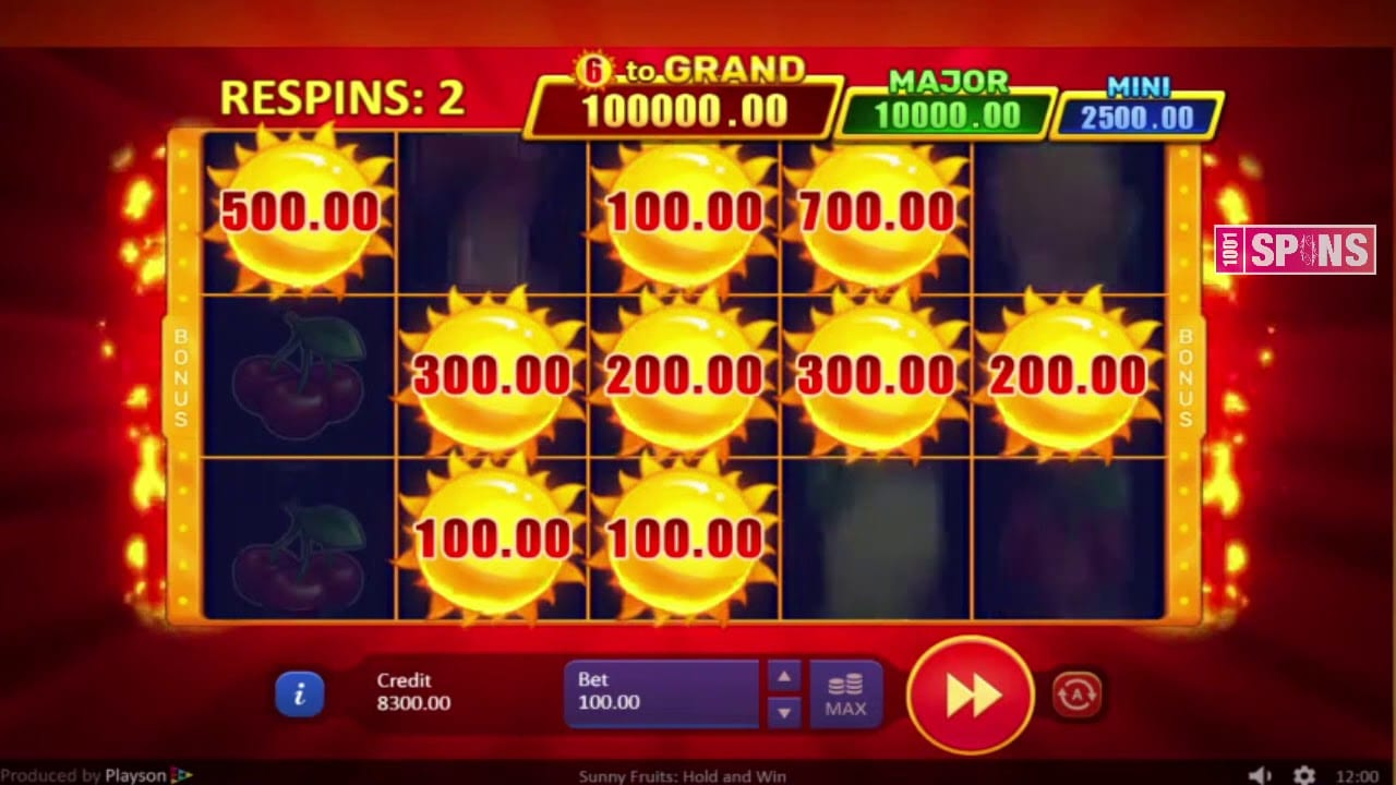 Sunny Fruits UK Slots