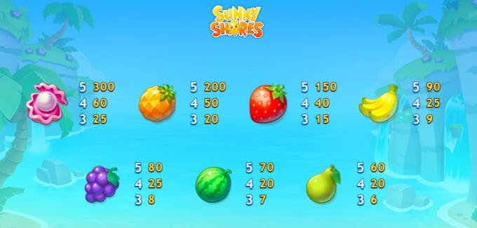 Sunny Shores online slots game gameplay