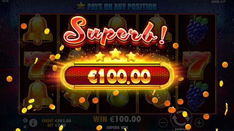 Super 7s Slot Big Win