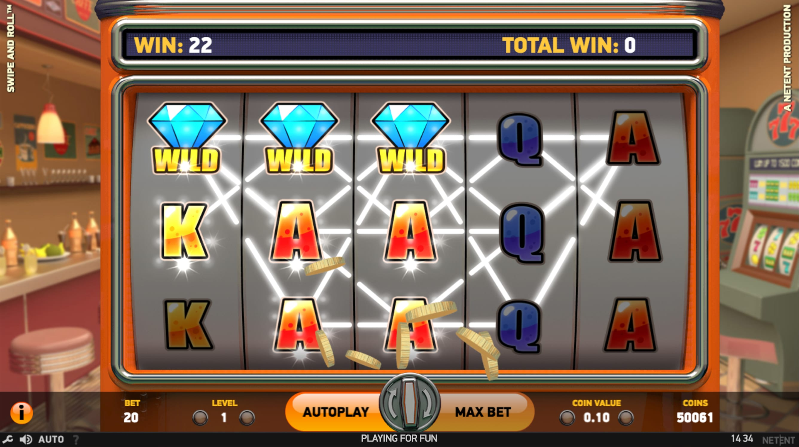 Swipe & Roll Slots Game