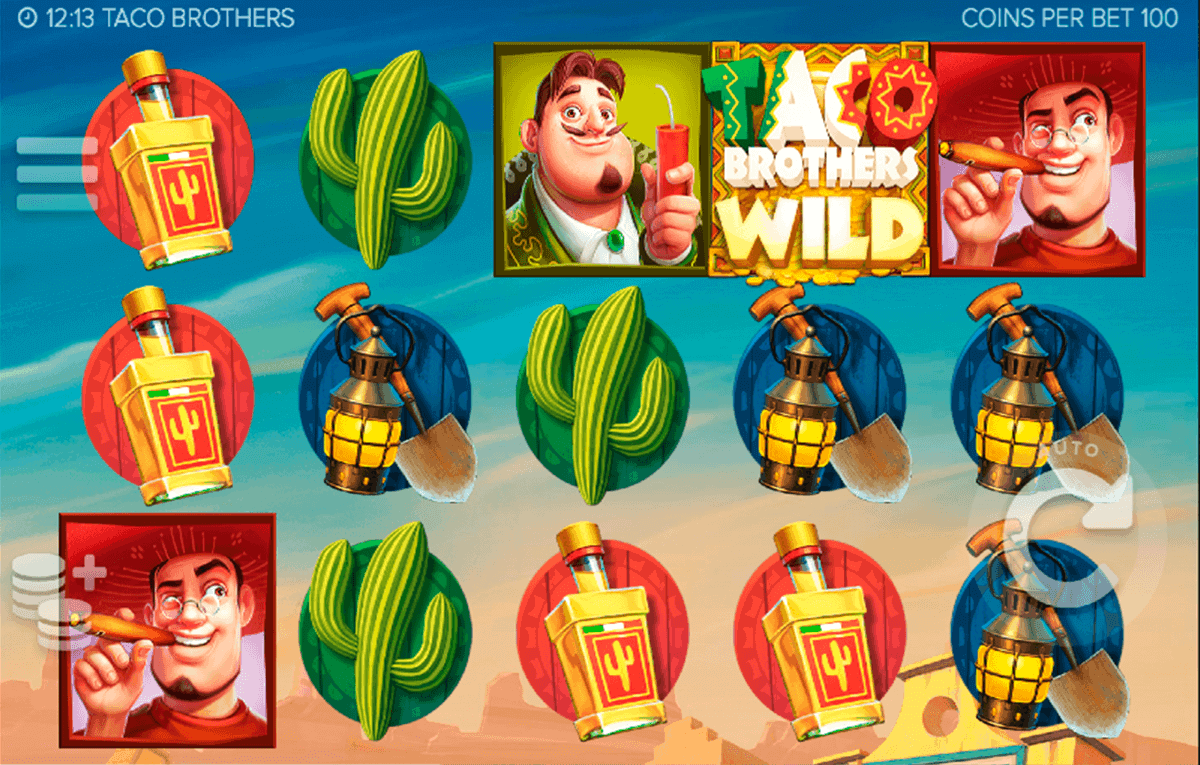 Taco Brothers online slots game win line