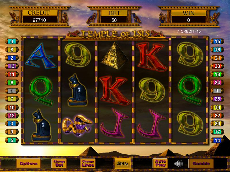 Temple Of Isis slots gameplay