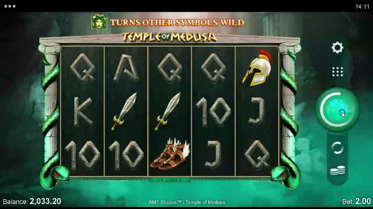 Temple of Medusa Slot Gameplay