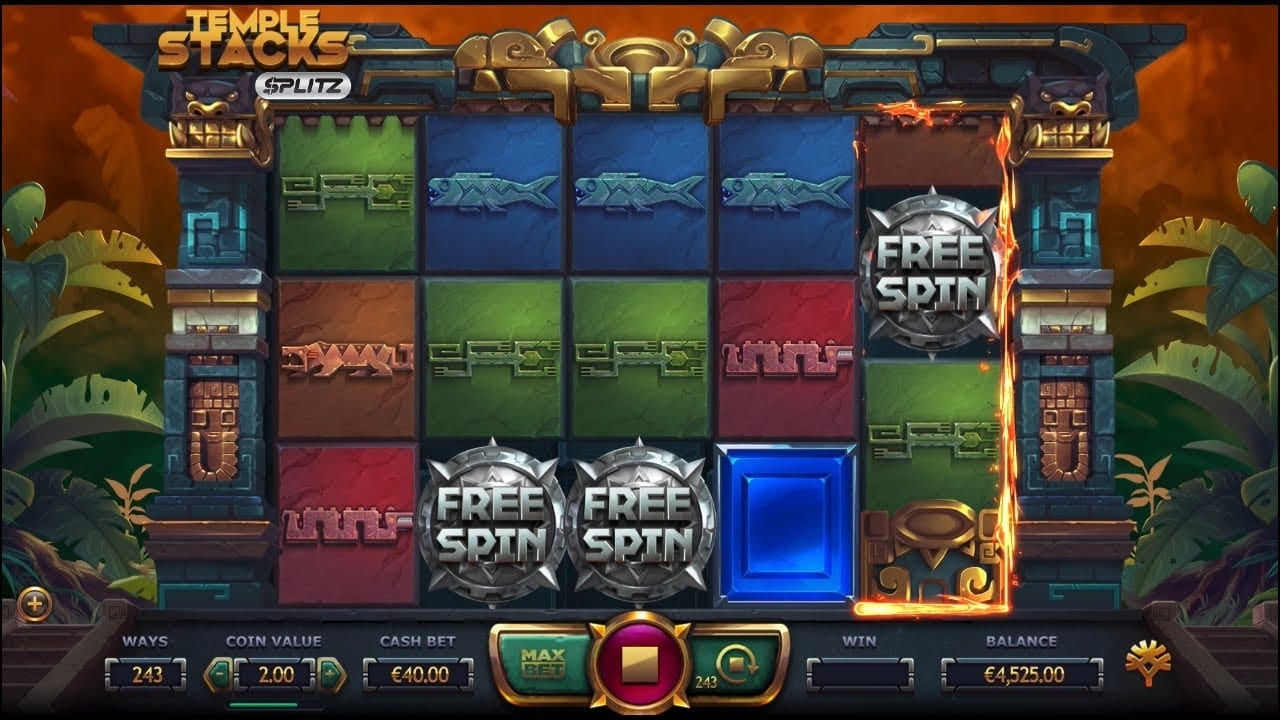 Temple Stacks Splits Slot Game