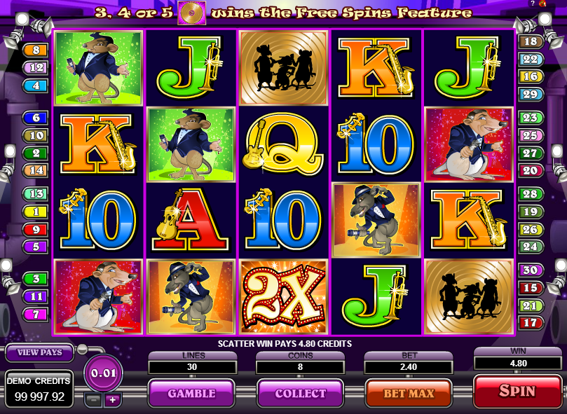 The Rat Pack online slots game gameplay