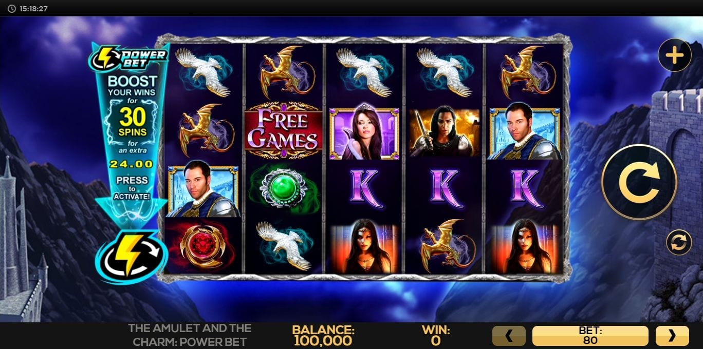 Amulet and the Charm Power Bet Slots Game