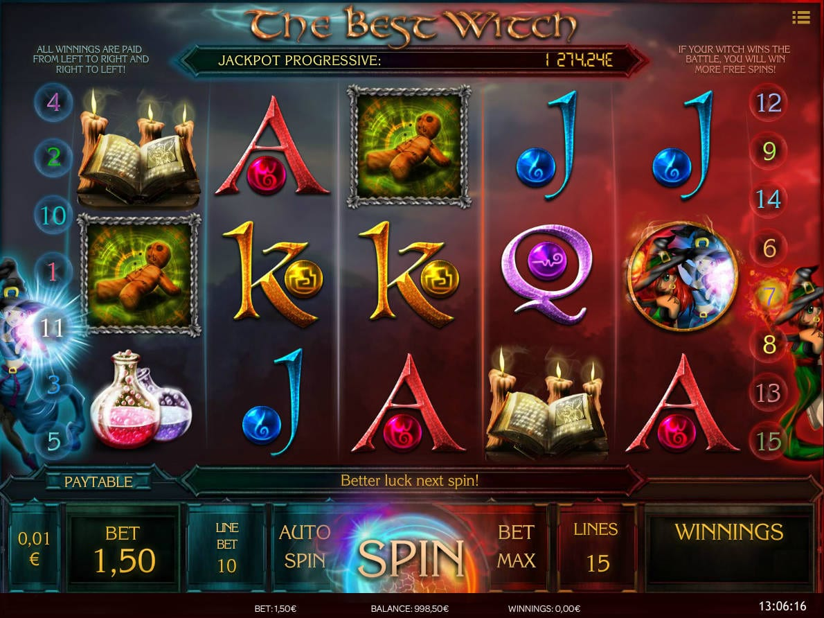 The Best Witch online slots game gameplay