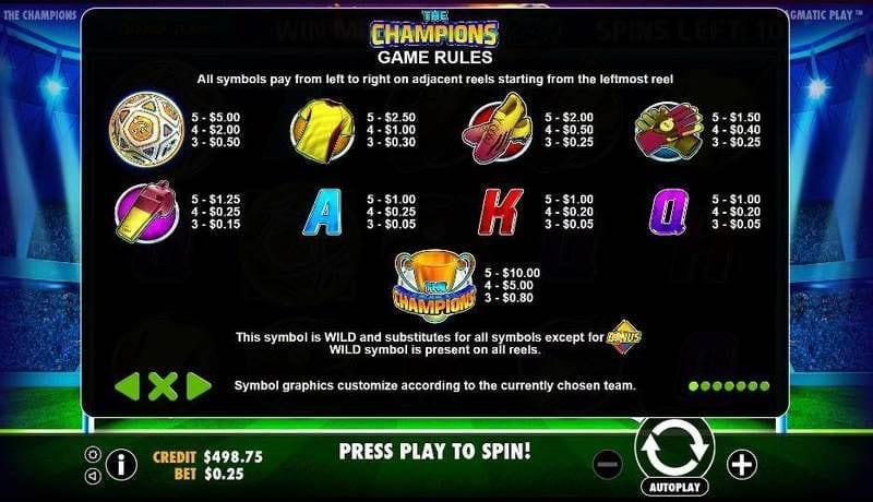 The Champions Slots