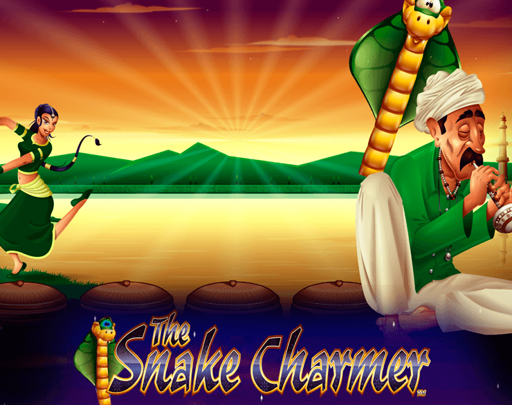 The Snake Charmer online slots game logo