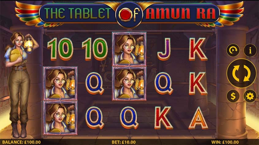 The Tablet of Amun Ra Free Slots