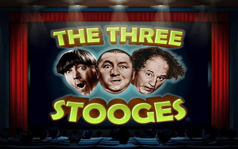 Three Stooges online slots game logo