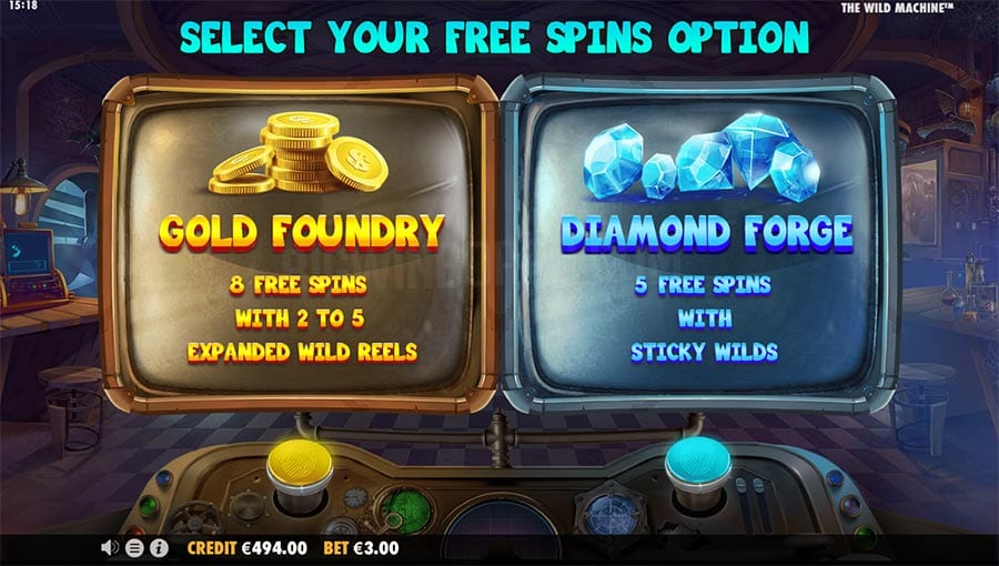 The Wild Machine Free Spins Slot