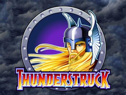 Thunderstruck online slots game logo