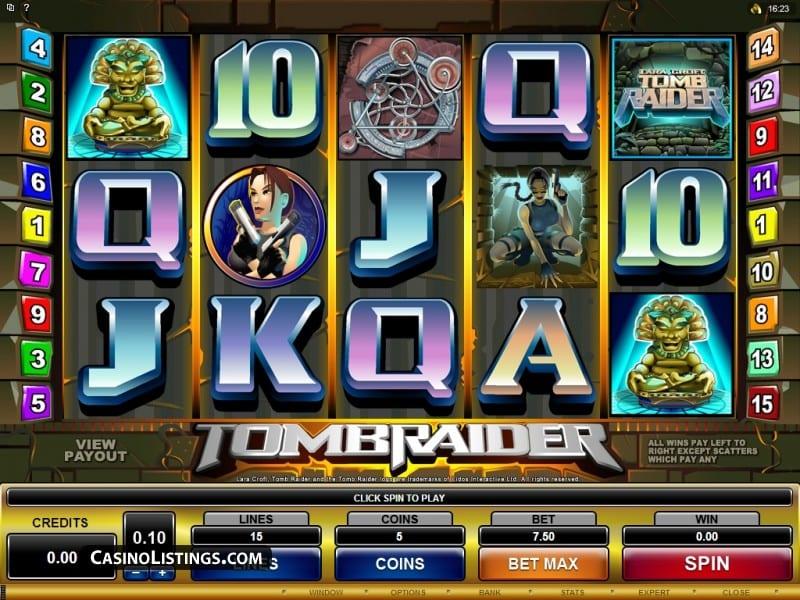Tomb Raider Slot Game play