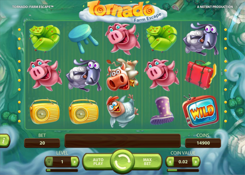 Tornado: Farm Escape slots gameplay