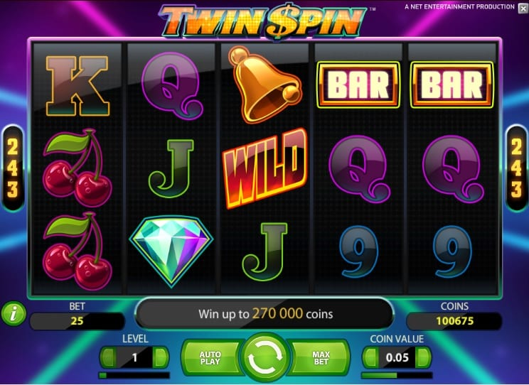 Twin Spin online slots game