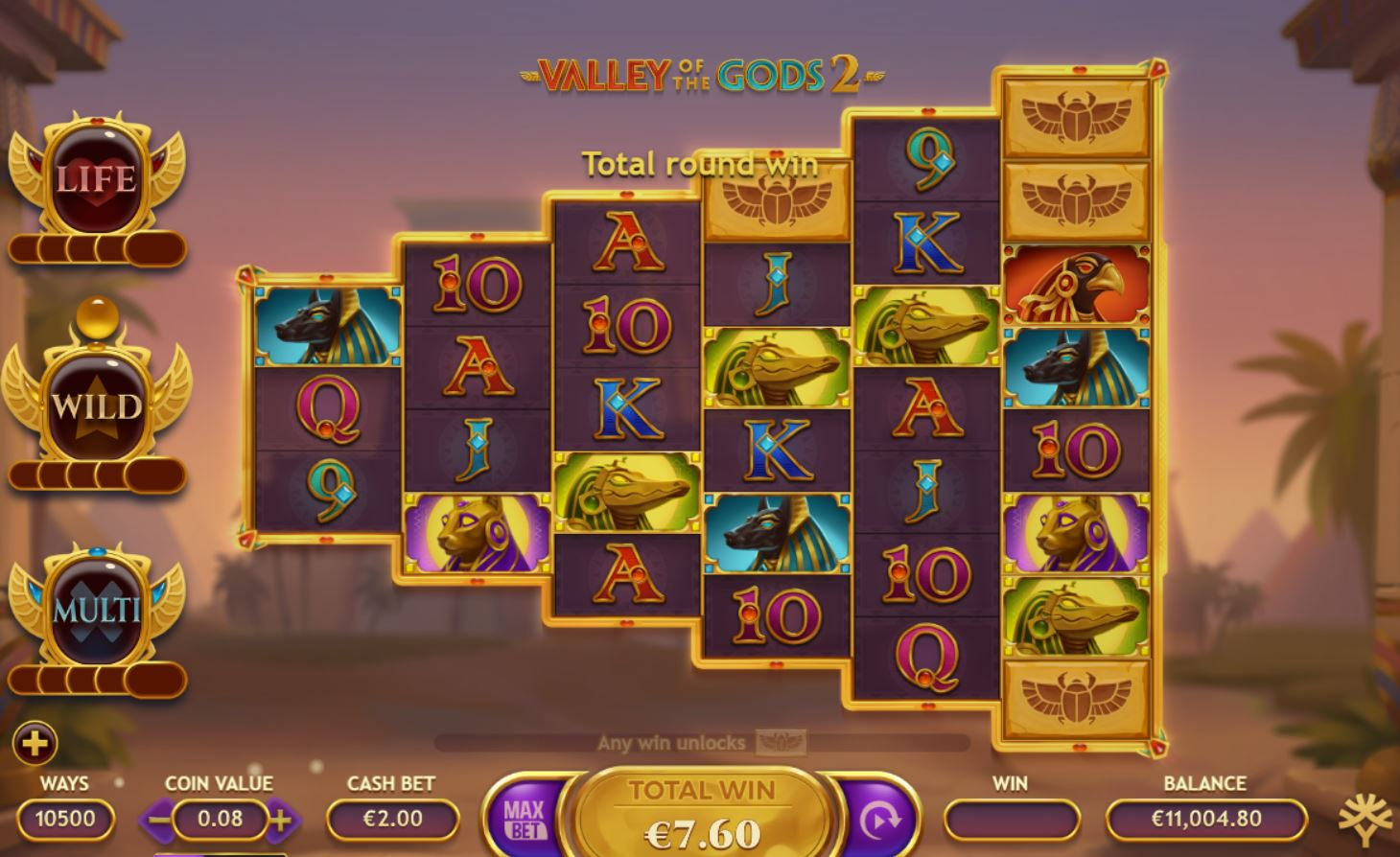 Valley of the Gods 2 Slots Reels