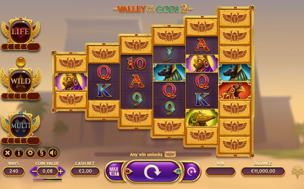 Valley of the Gods 2 Slot Gameplay