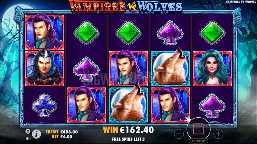 Vampire vs Wolves gameplay casino