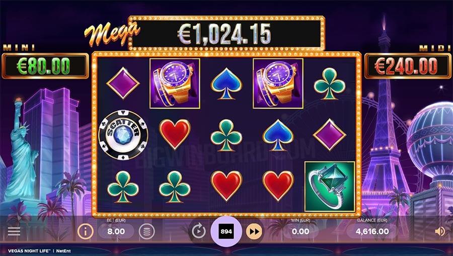 Vegas Night Life Slot Gameplay