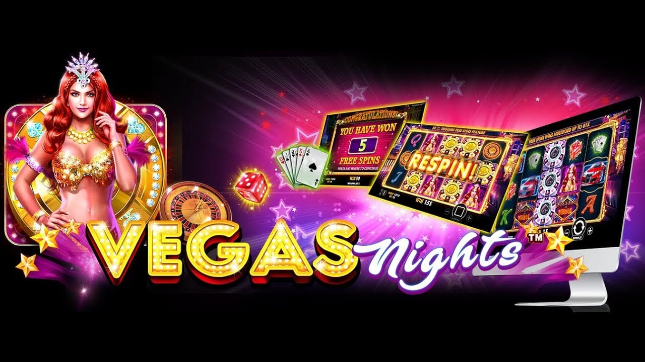 vegas nights slots game logo