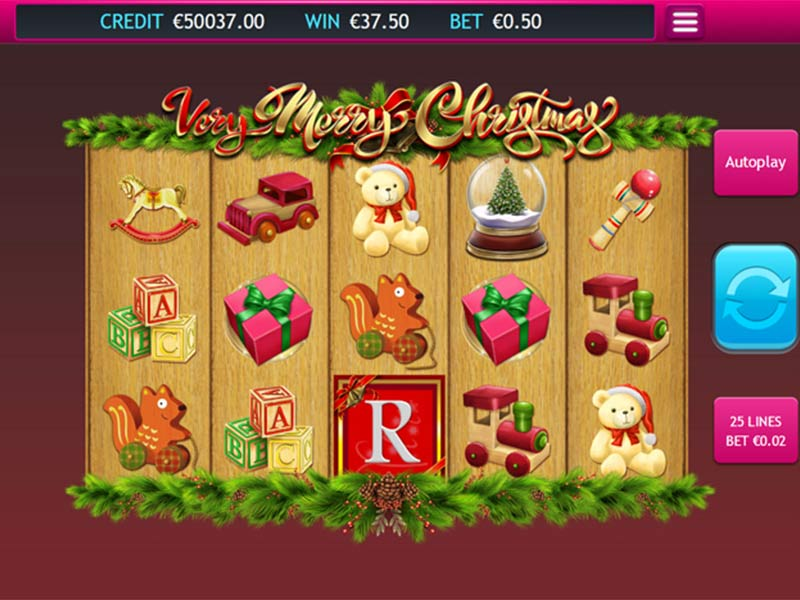 Very Merry Christmas slots gameplay