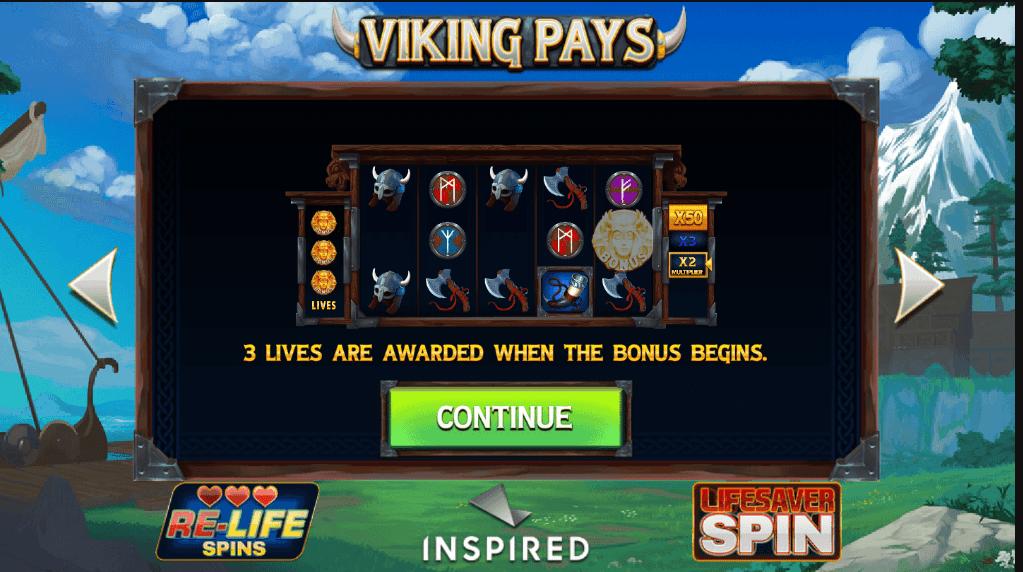 Viking Pays Slots Bonus Features