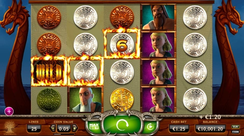 Vikings Go Wild online slots game gameplay