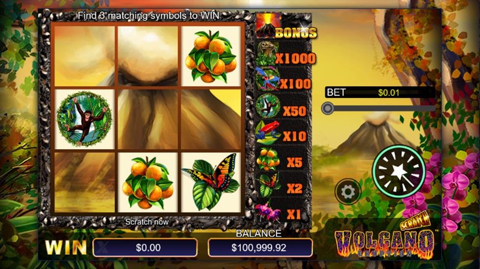 Scratch Volcano Eruption casino game