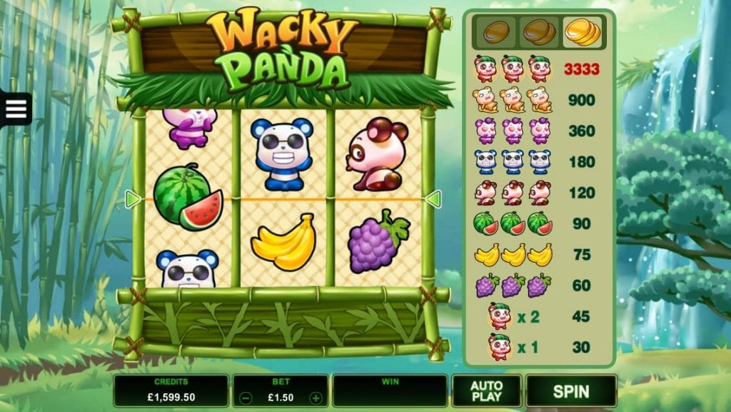 Wacky Panda Slots Game gameplay