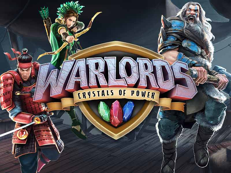 Warlords Crystals of Power online slots game logo