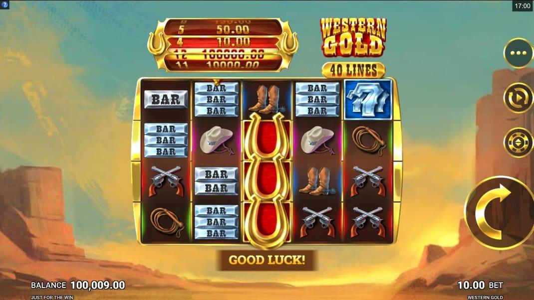 Western Gold Slots Reels