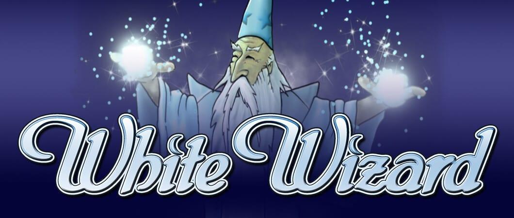 white wizard slots logo