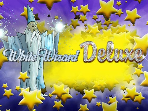 White Wizard Deluxe online slots game logo