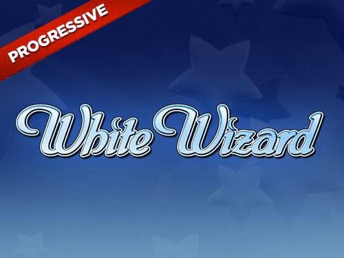 White Wizard Jackpot Slots game logo
