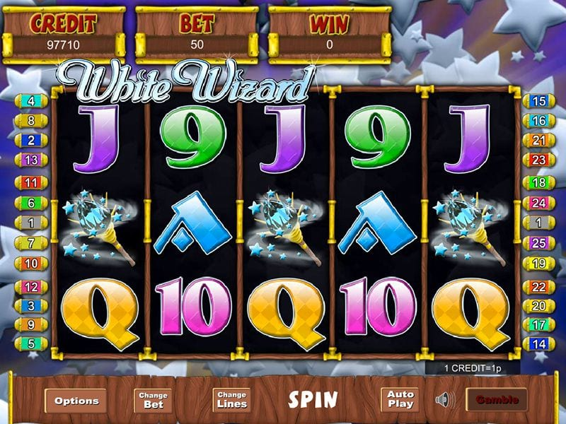 White Wizard online slots game gameplay